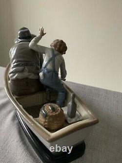 Lladro Fishing With Gramps 5215 Boxed