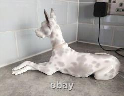 Lladro Great Dane, 1068. Lovely Condition, Approx 12 Length
