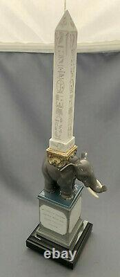 Lladro Grey Elephant Pulcino Obelisk Ornament Figure Boxed