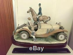 Lladro Horse and Car