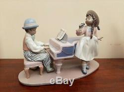 Lladro JAZZ BAND Figurine #5930 JAZZ Duo Singer & Pianist Perfect