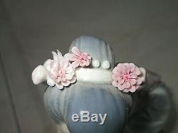 Lladro Japanese Geisha Kneeling Picking Flowers 1448 Yuki