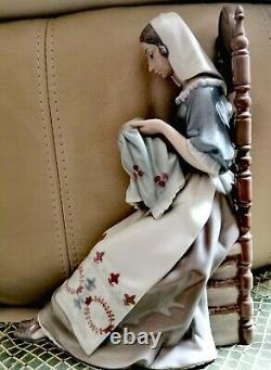 Lladro Lady Sewing Embroiderer
