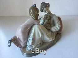 Lladro Large Figurine # 1606 Mother, Daughter and Baby Mint Lovely Piece