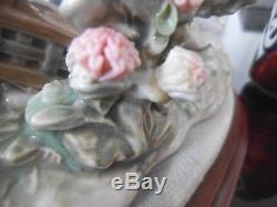 Lladro Large Figurine Springtime In Japan 1445 With Base Geisha Japanese