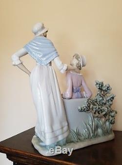 Lladro Large Retired Rare Damitas Platicando Talking Ladies Figurine No 5042
