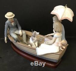Lladro Love Boat. 5343. Limited Edition. 15.25 wide. With base & Certificate