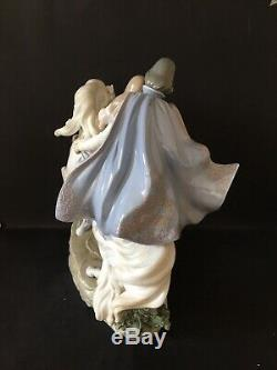 Lladro Love Story. 5991. Prince and Princess on horse. Huge piece. Mint in box