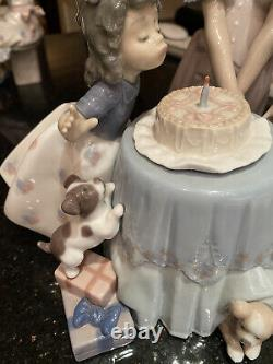 Lladro Making A Wish Girl Blowing Out Candles