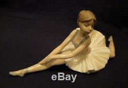 Lladro Nao Ballerina Figurine Large Ballet Dancer Doing The Splits Perfect