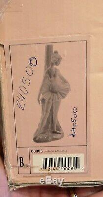 Lladro Nao Porcelain Ballerina Table Lamp Light Boxed