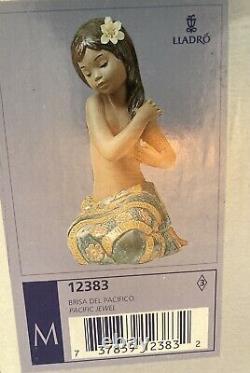 Lladro Pacific Jewel 12383 Gres With Box Island Girl