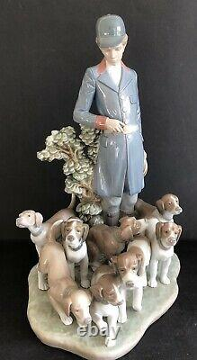 Lladro Pack of Hunting Dogs. 5342. Limited Edition