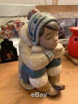 Lladro Pensive Eskimo Boy
