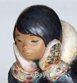 Lladro Pensive Eskimo Girl