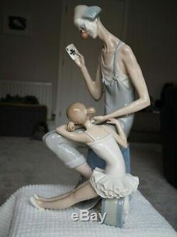 Lladro Porcelain # 4605 Magic Circus Clown & Ballerina