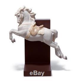 Lladro Porcelain Animal Horse On Pirouette 1018253