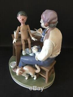 Lladro Puppet Painter. 5396. Giuseppe painting Pinocchio