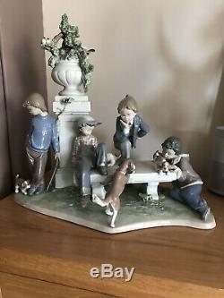 Lladro Puppy Dog Tails 5539 limited edition perfect large