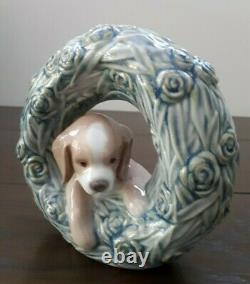 Lladro Puppy Natural Frames #8071 C2004/08