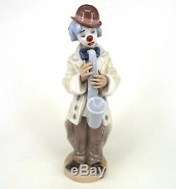 Lladro Sad Sax Clown Figurine 1988 By Francisco Catala 5471 Retired