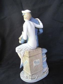 Lladro Sailor Serenading His Girl Romance Portoario