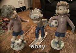 Lladro Sport Billy Trio All 3 Figurines Now Retired