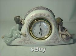 Lladro TWO SISTERS CLOCK 5776 First Quality Fully Working 11 Photos