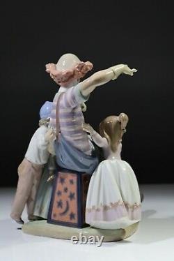 Lladro The Magic of Laughter Figurine Retired 1996 RARE Clown