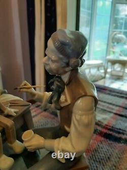 Lladro The Puppet Painter Giuseppe And Pinocchio