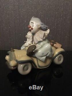 Lladro Trip To The Circus Privilege 8136 Clown Figure Autos Locos