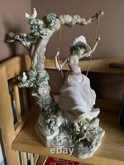 Lladro Victorian Girl On Swing Selling At Huge Reduction