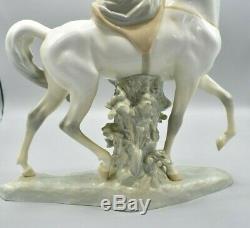 Lladro Woman on Horse HUGE Piece