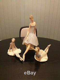 Lladro ballerina trio ornaments. Collectable items. Perfect condition. No box
