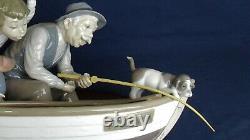 Lladro figure GRAMPS boy & grandad fishing model 5215
