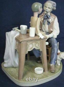 Lladro figure PUPPET PAINTER Pinocchio and Giuseppe model 5466
