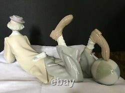 Lladro large figurine reclining'Clown' #4618