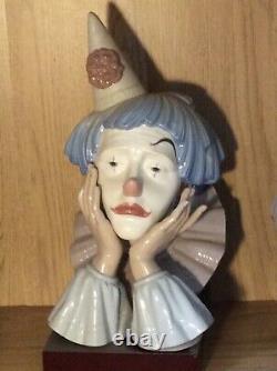 Lladro large jester clowns head