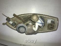 Lladro lovely porcelain Fishing with Gramps figurine perfect condition