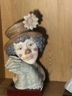 Lladro melancholy large clowns head