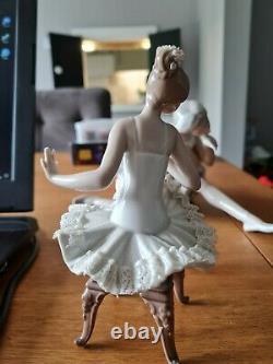 Lladro porcelain ballerina figurine ballet girl descanso recital 5496