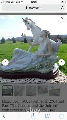 Lladro the Goddess and the Unicorn in pristine condition kept in the box no 6007