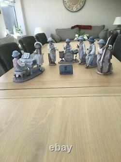 Lladro very rare 6 piece jazz band model numbers 5832,5833,5834,5928,5929,5930