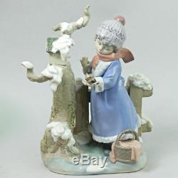 Lovely Lladro Fine Porcelain Figurine Winter Frost 5287