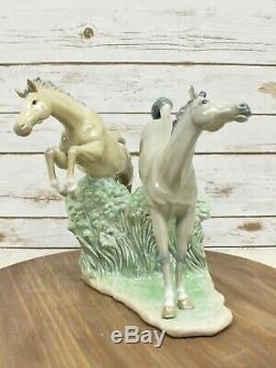 NAO By Lladro Porcelain Horse Figurine Jumping Horses Statue 2 Horse Figure LRG