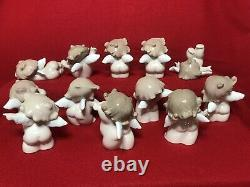 Nao Cheeky Cherubs Collection Set 12 Pieces. Figures Are In Perfect Condition