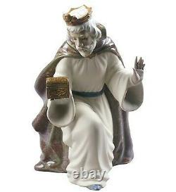 Nao Lladro NATIVITY SET JESUS, VIRGIN MARY, MELCHIOR, GASPAR, BALTHASAR + 3, new