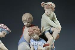 Nao by Lladro Figurine Boys Playing Cards 0679