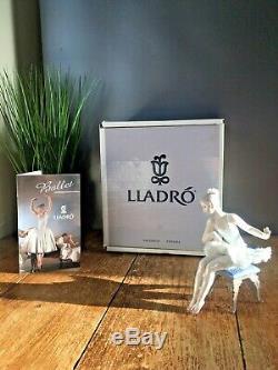Rare Boxed Lladro Porcelain Ballerina Figurine Ballet Girl Descanso Recital 5496