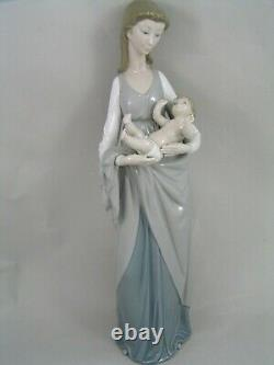 Rare Large Lladro Mother And Baby 16/40cm Figurine
